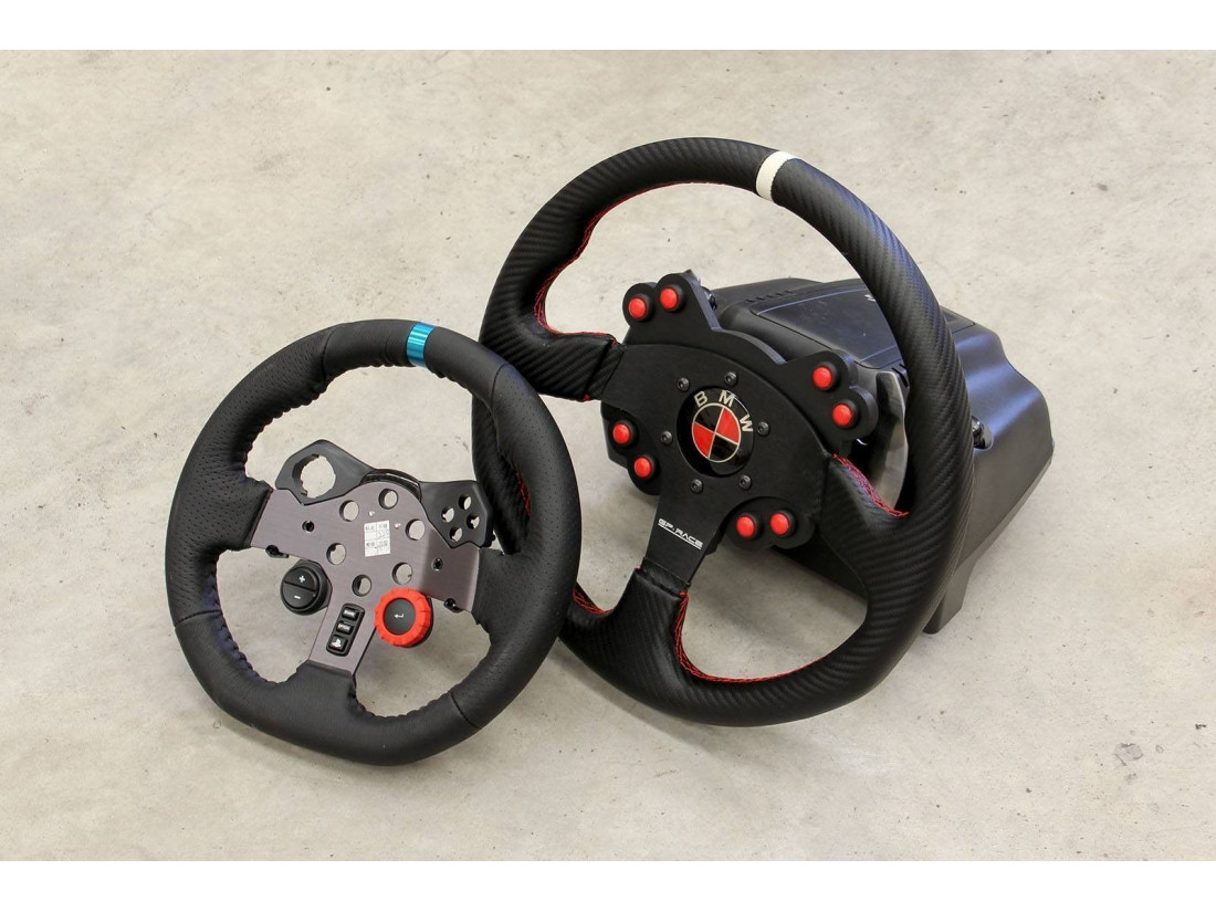 real steering wheel panel with logitech g29 buttons. Black Bedroom Furniture Sets. Home Design Ideas